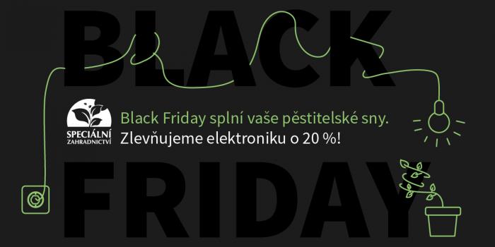 Black Friday Na Speciálním Zahradnictví.